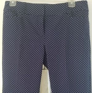 Blue polka dot stretchy pants. New no tags